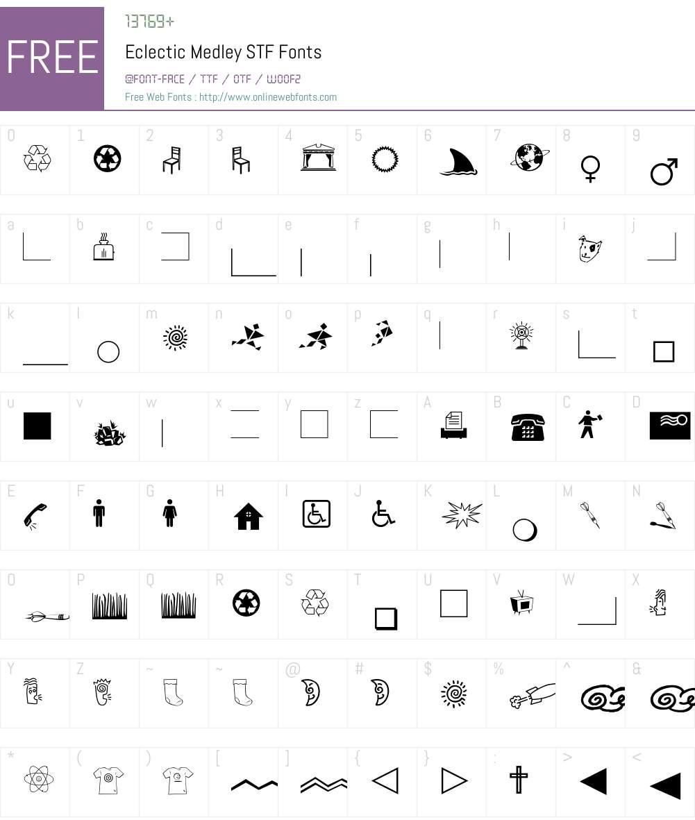 Eclectic Medley STF Font Screenshots