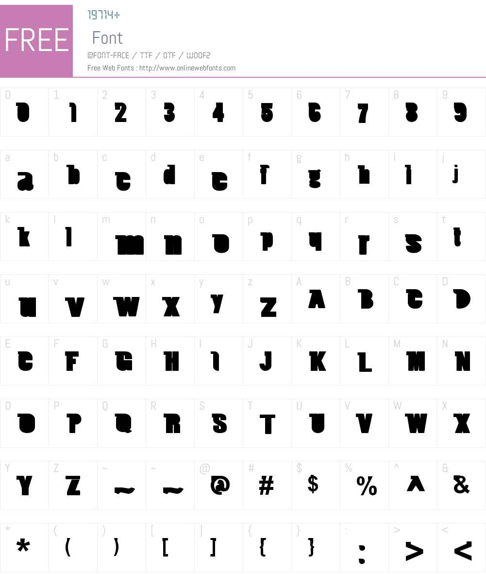 Duchet Chanford Font Screenshots