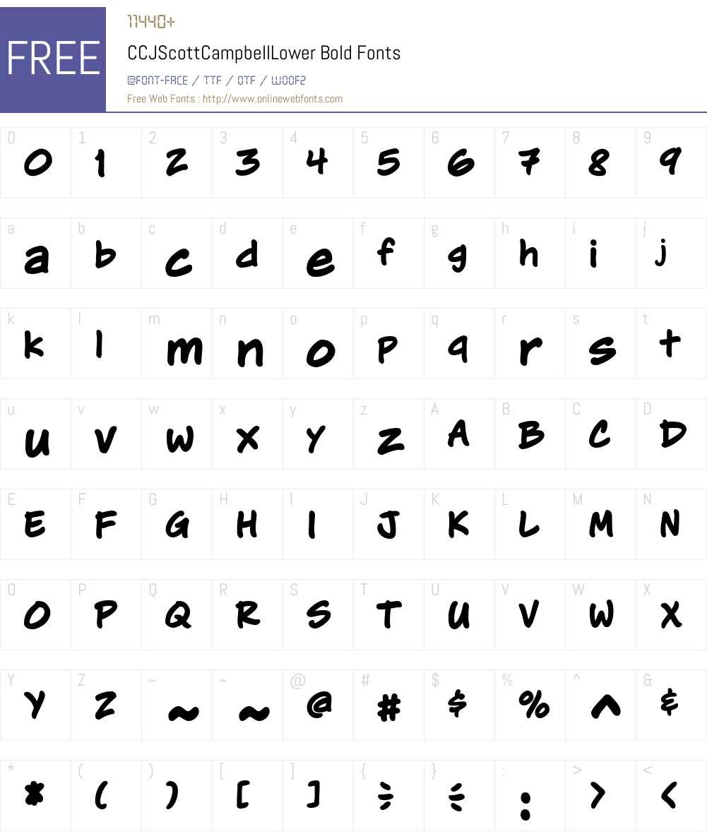 CCJScottCampbellLower-Bold Font Screenshots