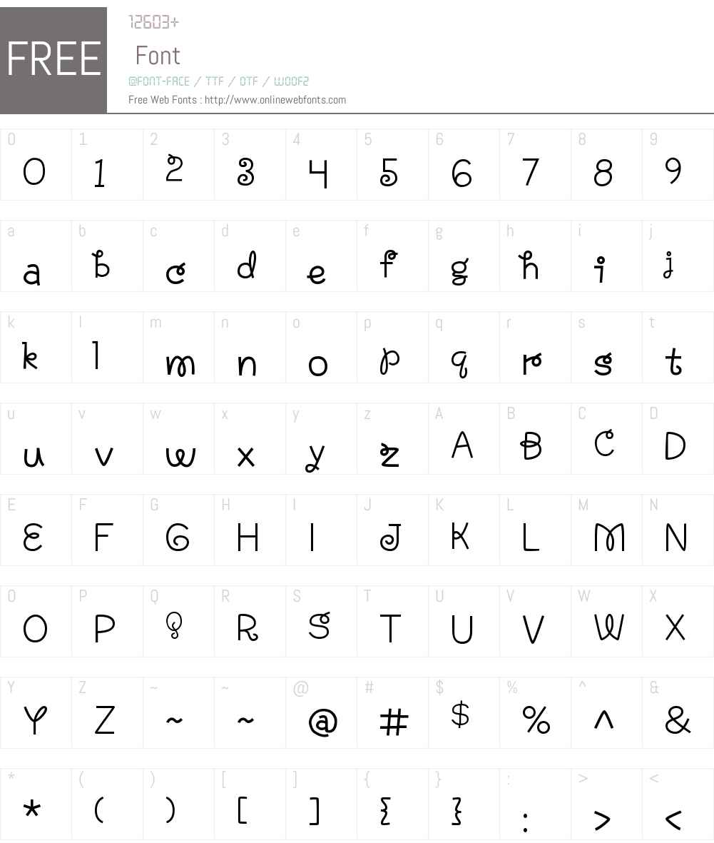 AnnabelleW00-Regular Font Screenshots