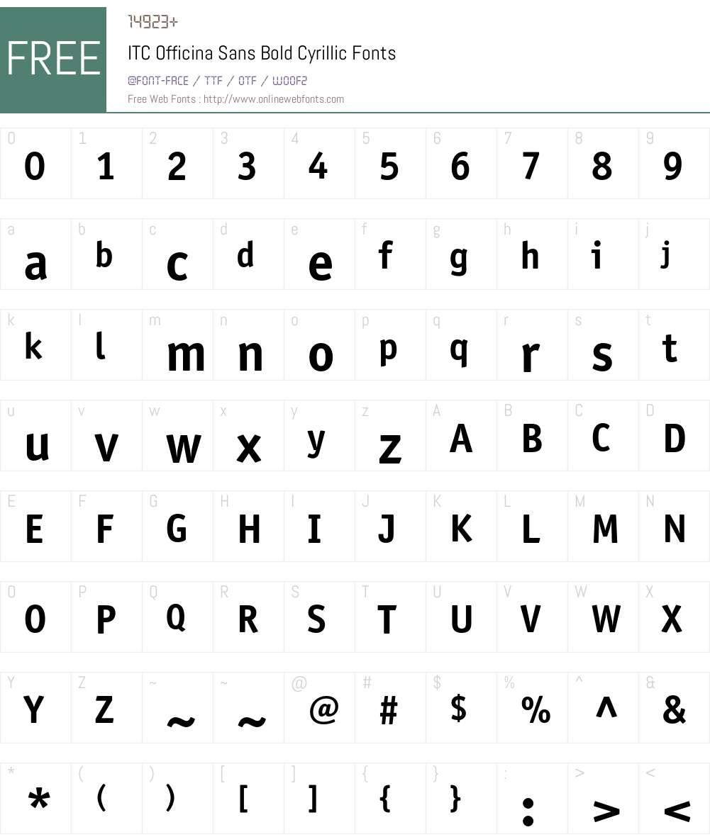 OfficinaSansC Font Screenshots