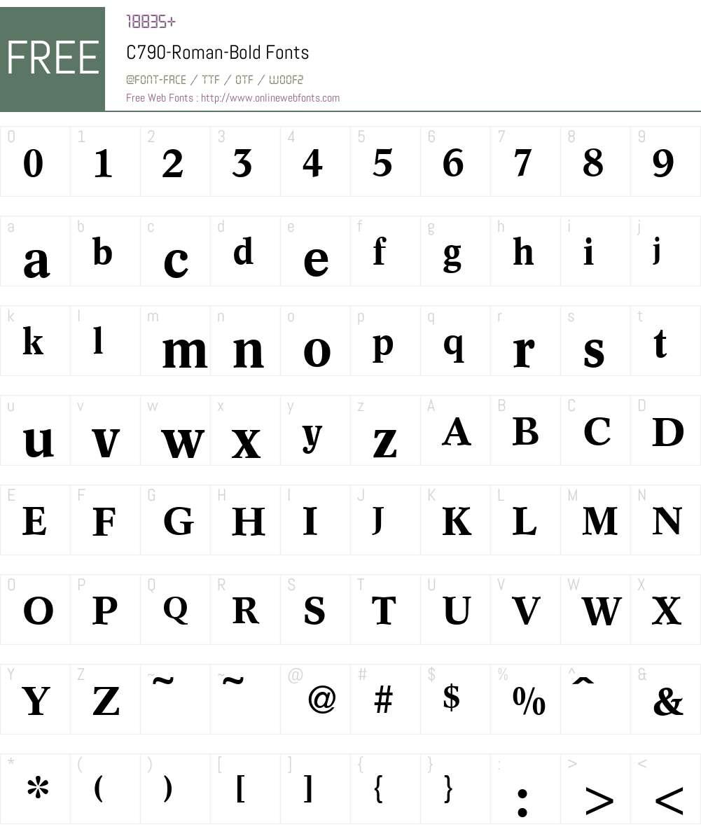 C790-Roman Font Screenshots