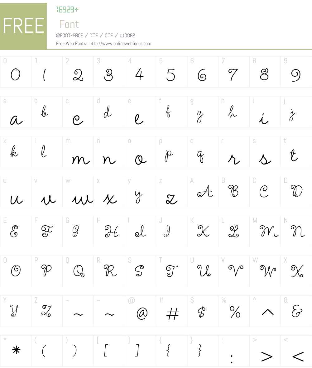 AmelieW00-Regular Font Screenshots
