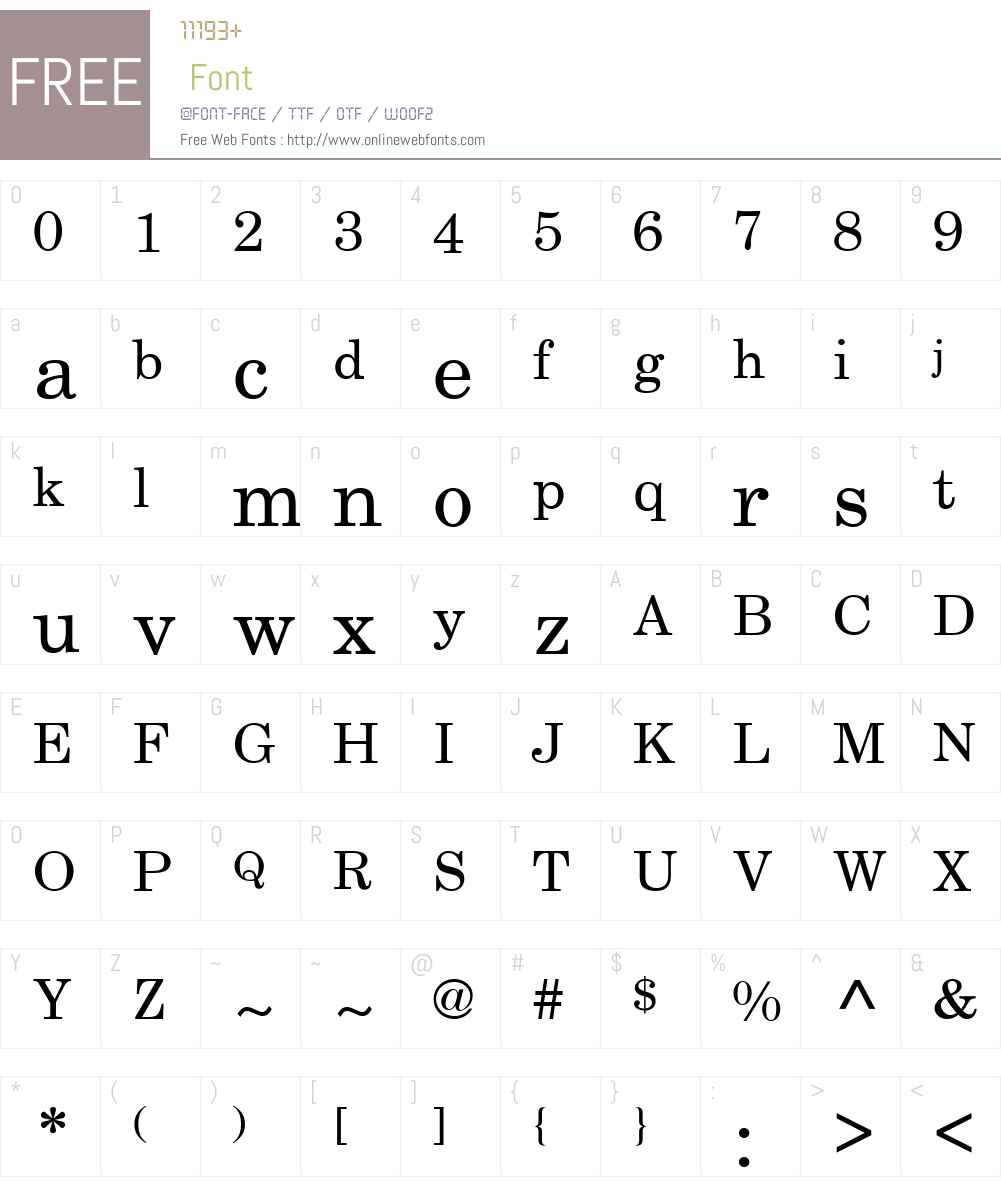 Century Schoolbook SSi Font Screenshots