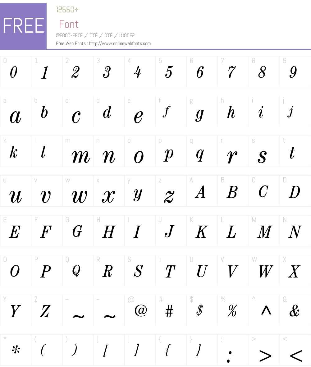 ITC Century Book Condensed Font Screenshots