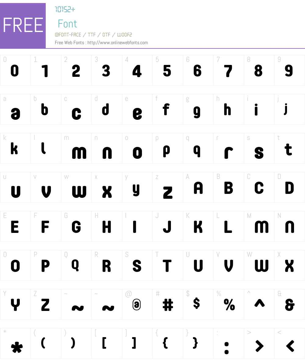 CoreMellowW01-75ExtraBold Font Screenshots