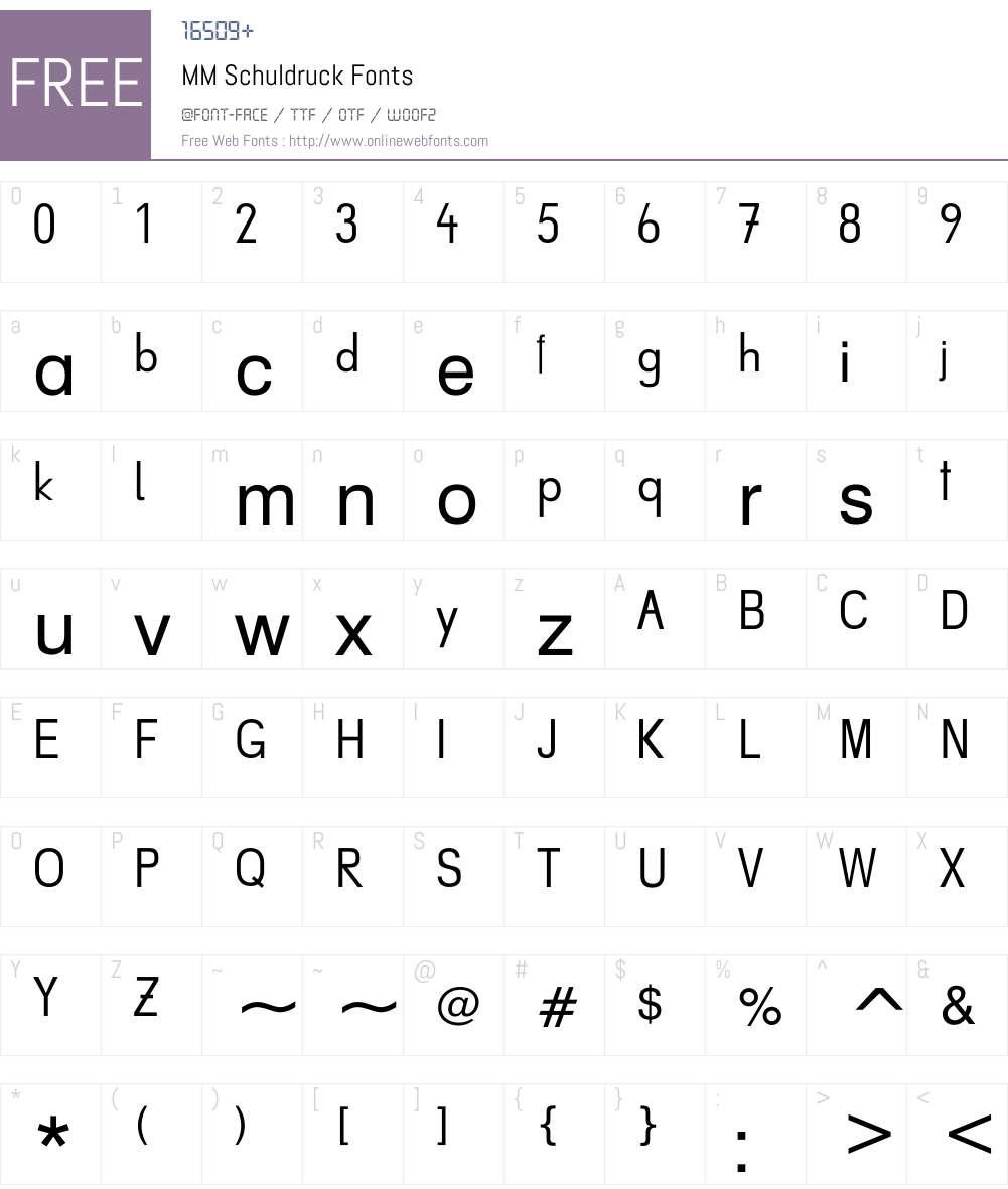 AaBbCc Font Screenshots