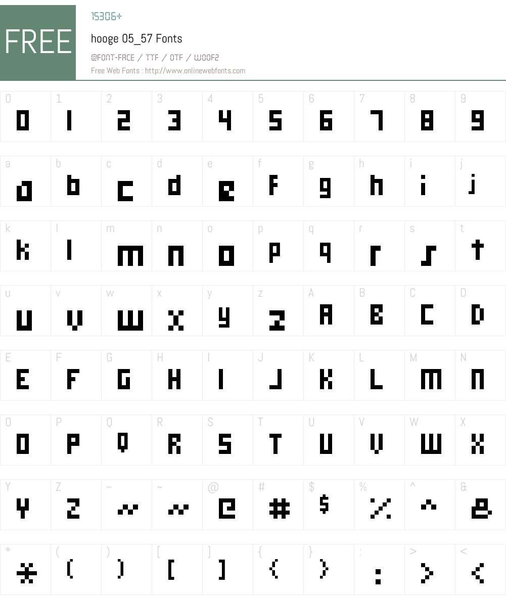 hooge 05_57 Font Screenshots