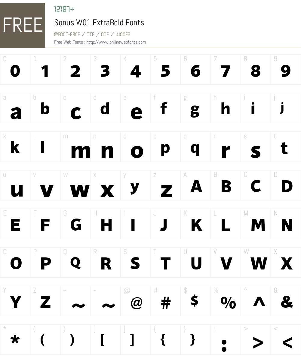 SonusW01-ExtraBold Font Screenshots