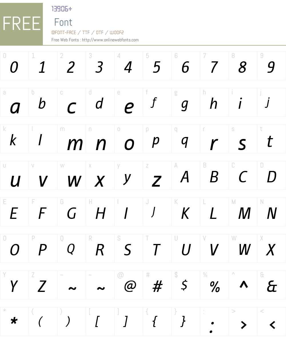 ITC Tabula Font Screenshots