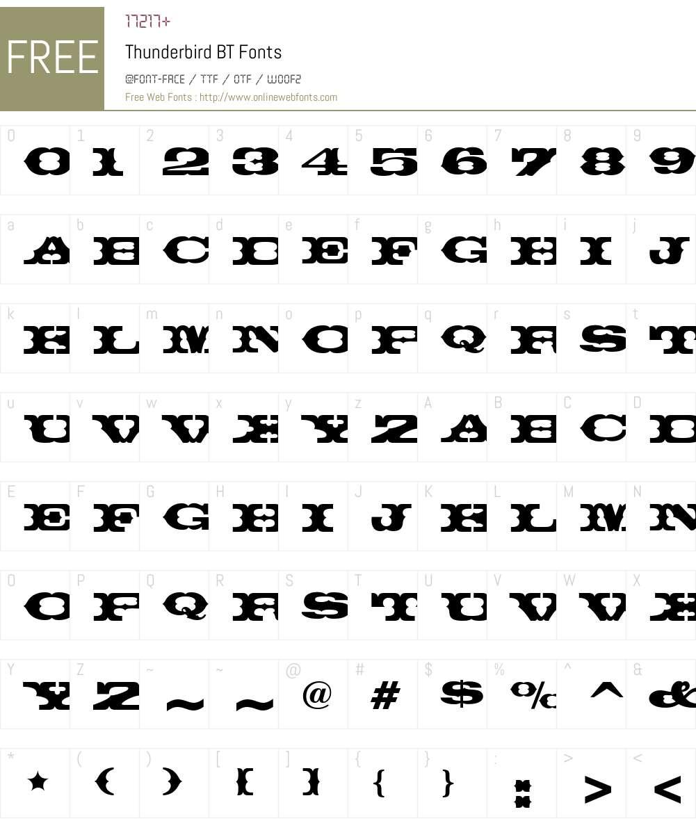 Thunderbird Font Screenshots