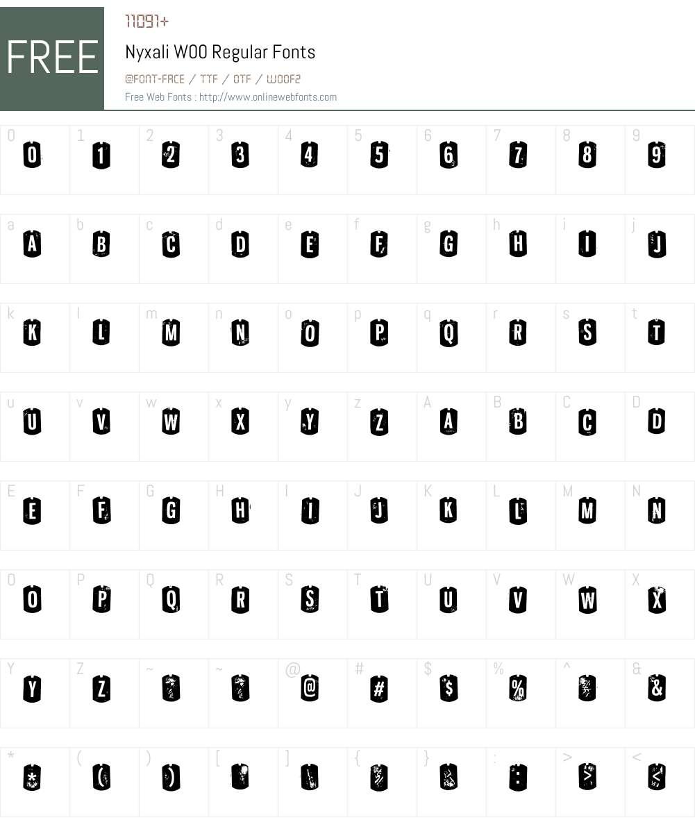 NyxaliW00-Regular Font Screenshots