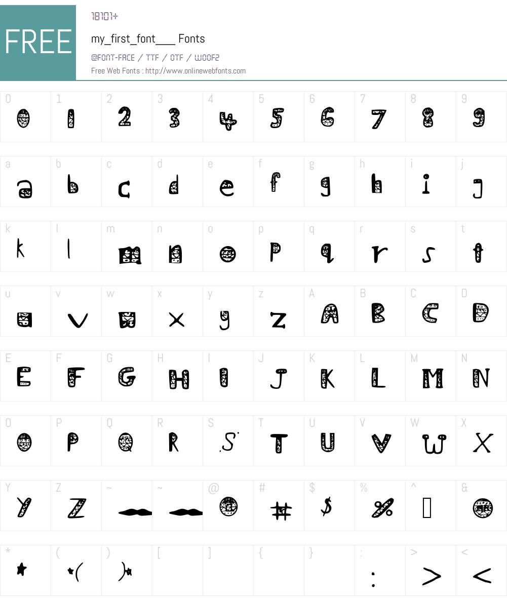 my_first_font___ Font Screenshots