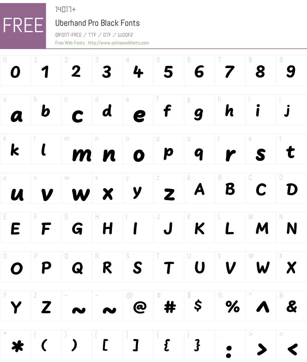 UberhandPro-Black Font Screenshots