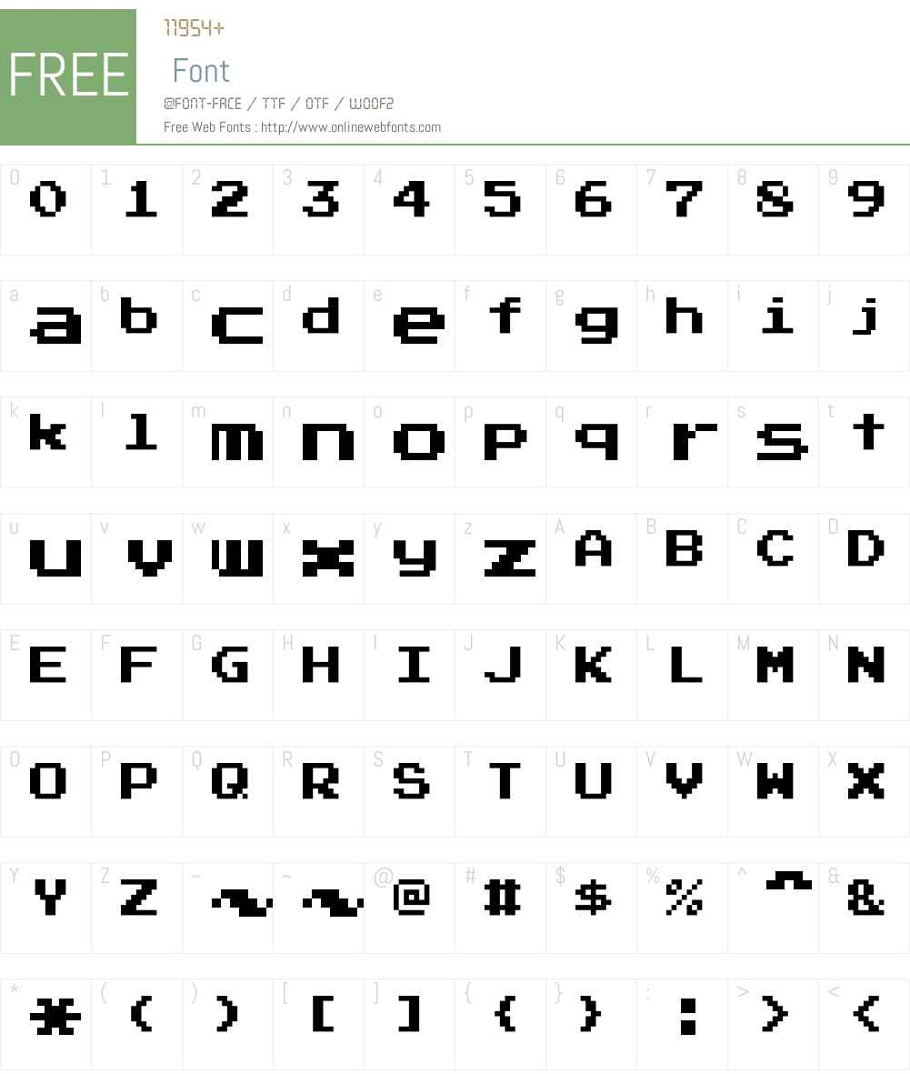 Press Start 2P Font Screenshots