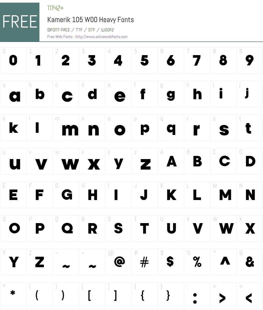 Kamerik105W00-Heavy Font Screenshots