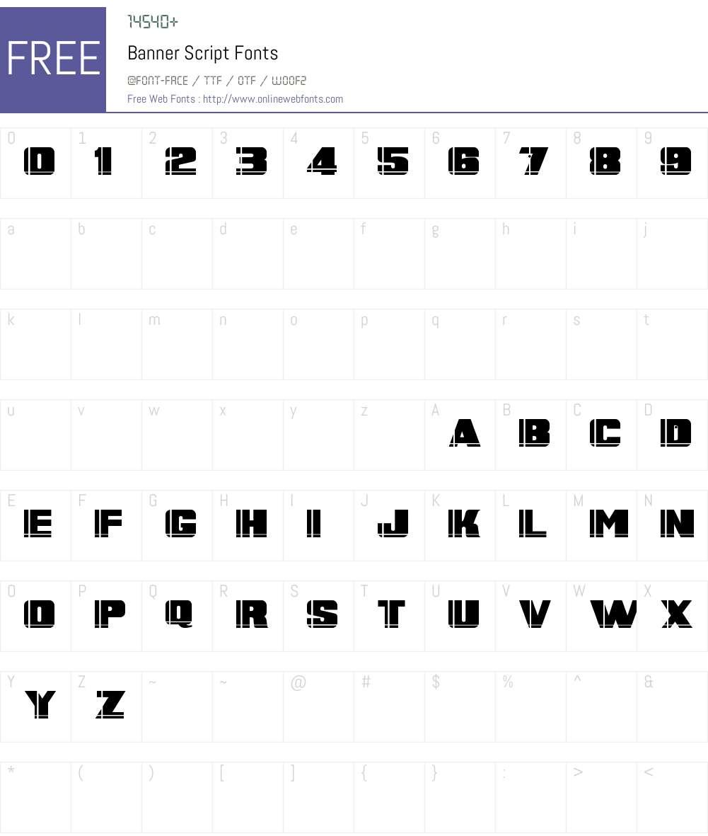 Banner Script Font Screenshots