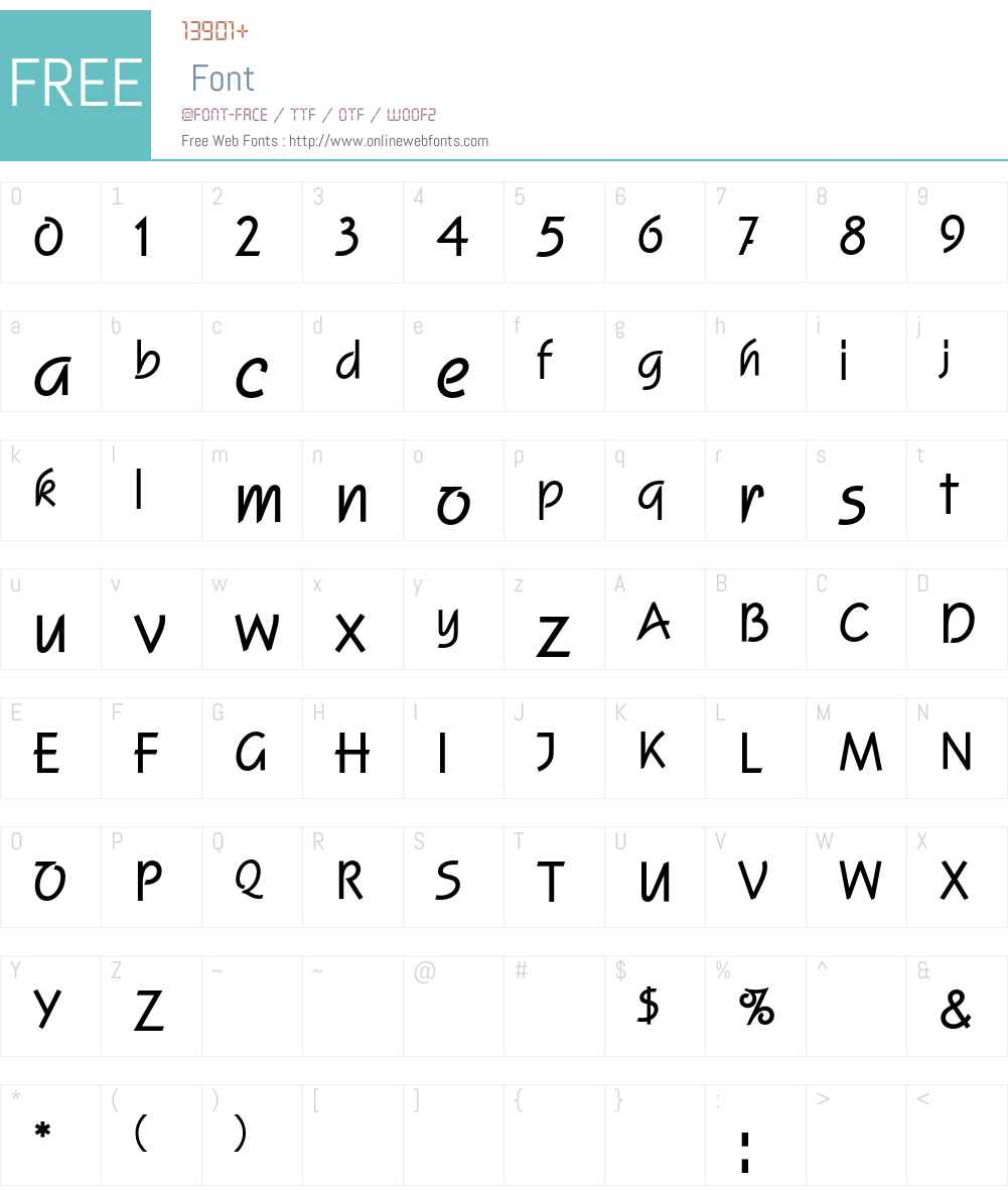 SquireEF Font Screenshots