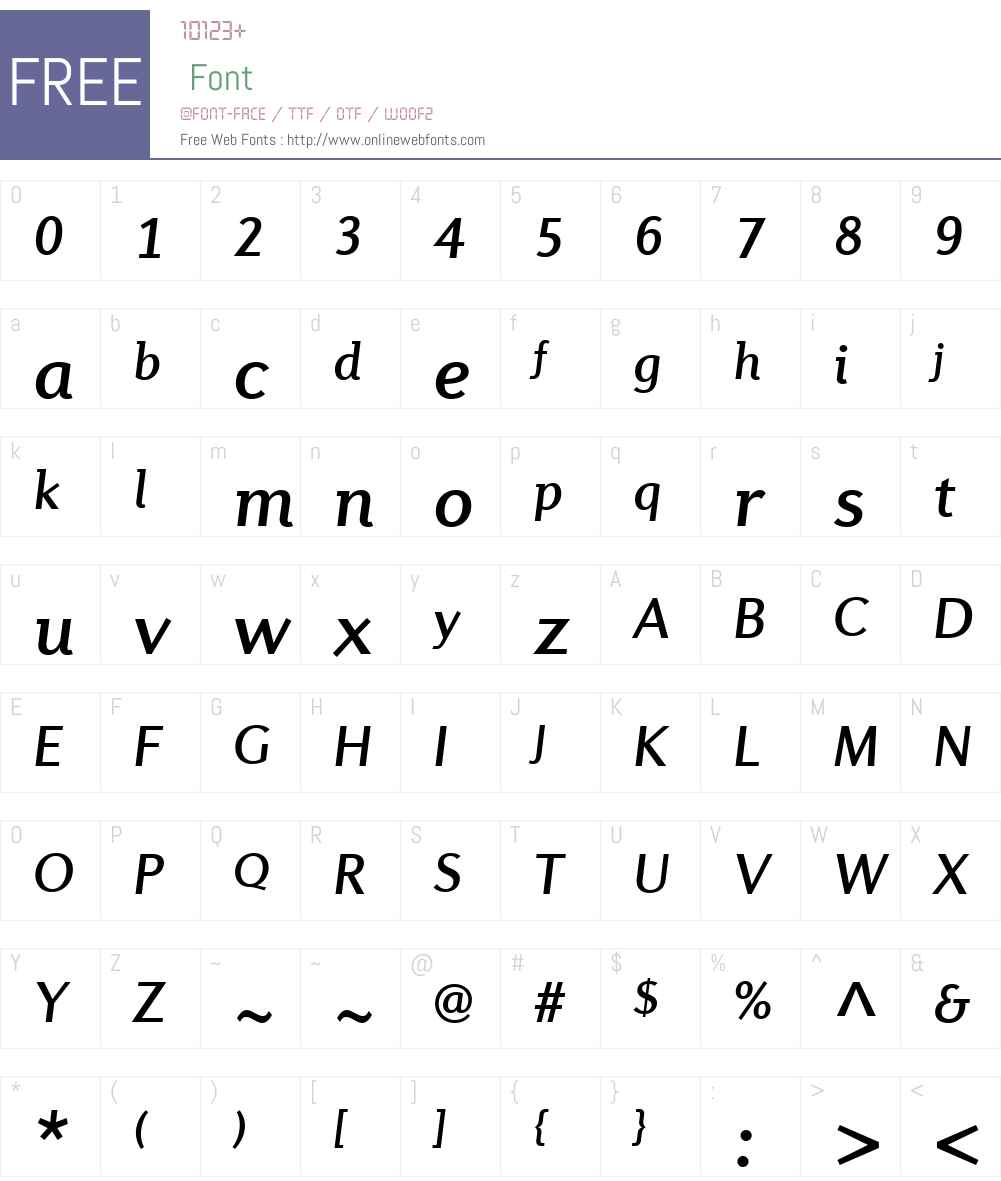 DiverdaSansW01-MediumItalic Font Screenshots