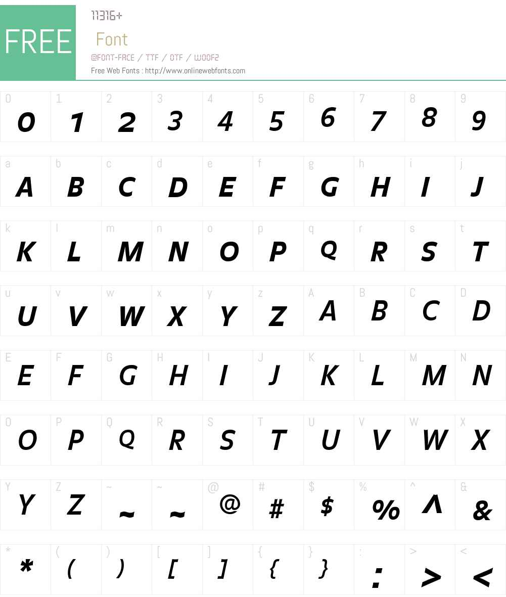 BalanceBold Font Screenshots
