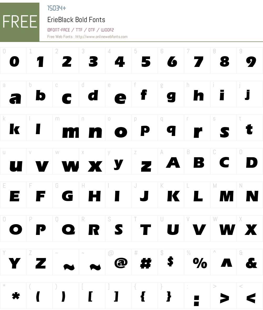 ErieBlack Font Screenshots