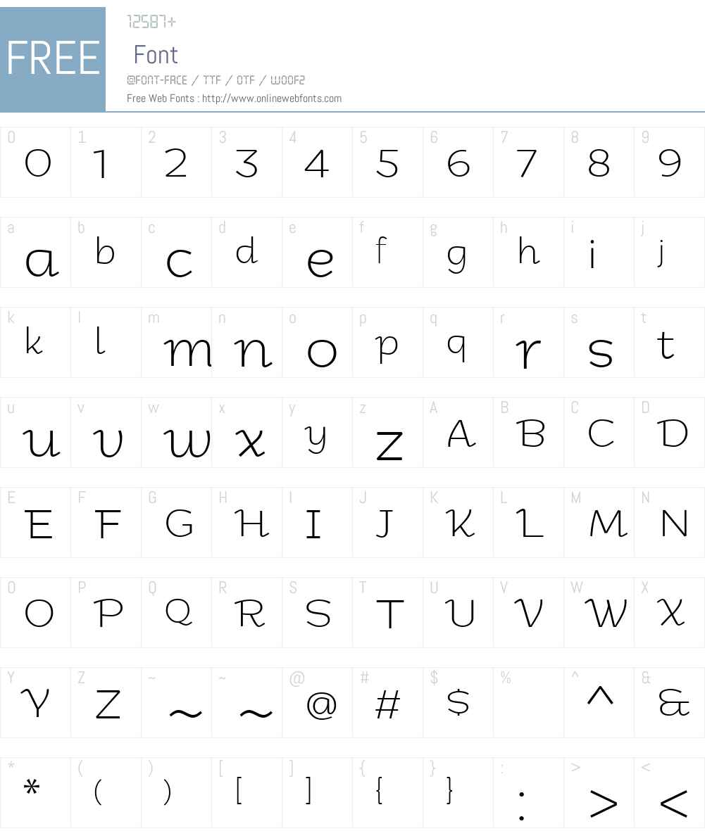 Kolyada-UltraLightItalic Font Screenshots