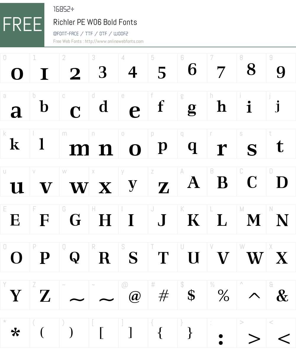 RichlerPEW06-Bold Font Screenshots