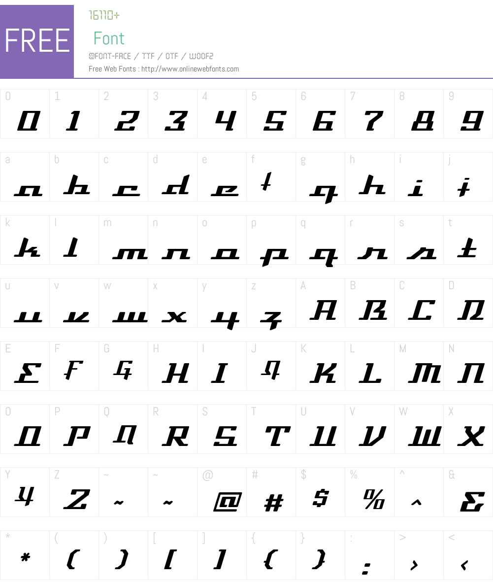 DevilleThruster Font Screenshots