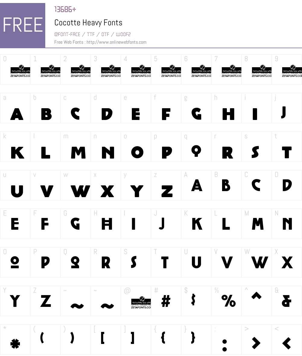 Cocotte Heavy Font Screenshots