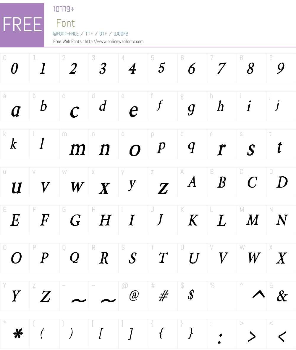 Berylium Font Screenshots