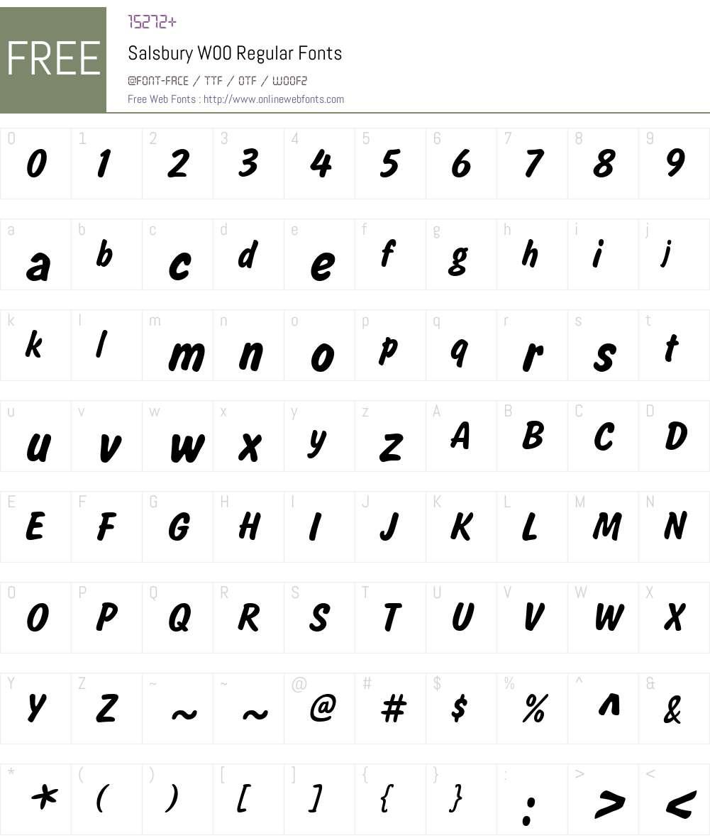 SalsburyW00-Regular Font Screenshots