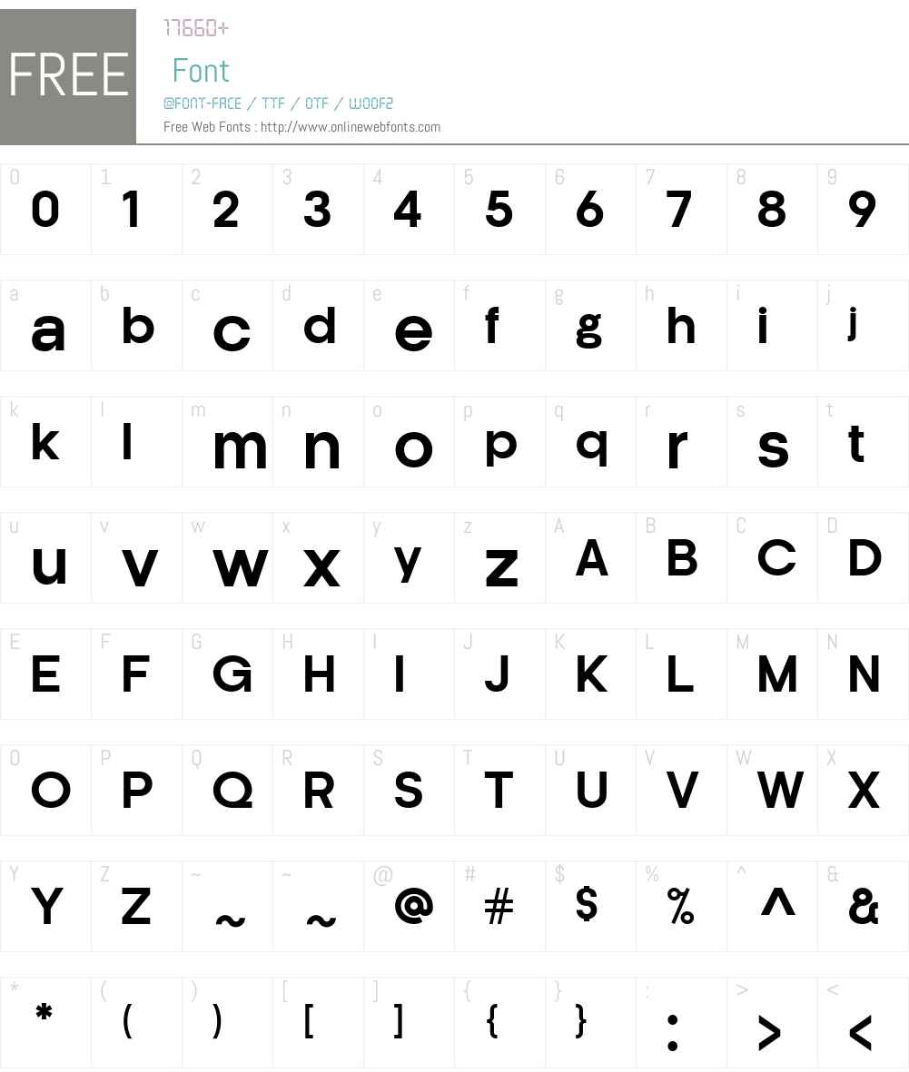 Kamerik 205 Font Screenshots