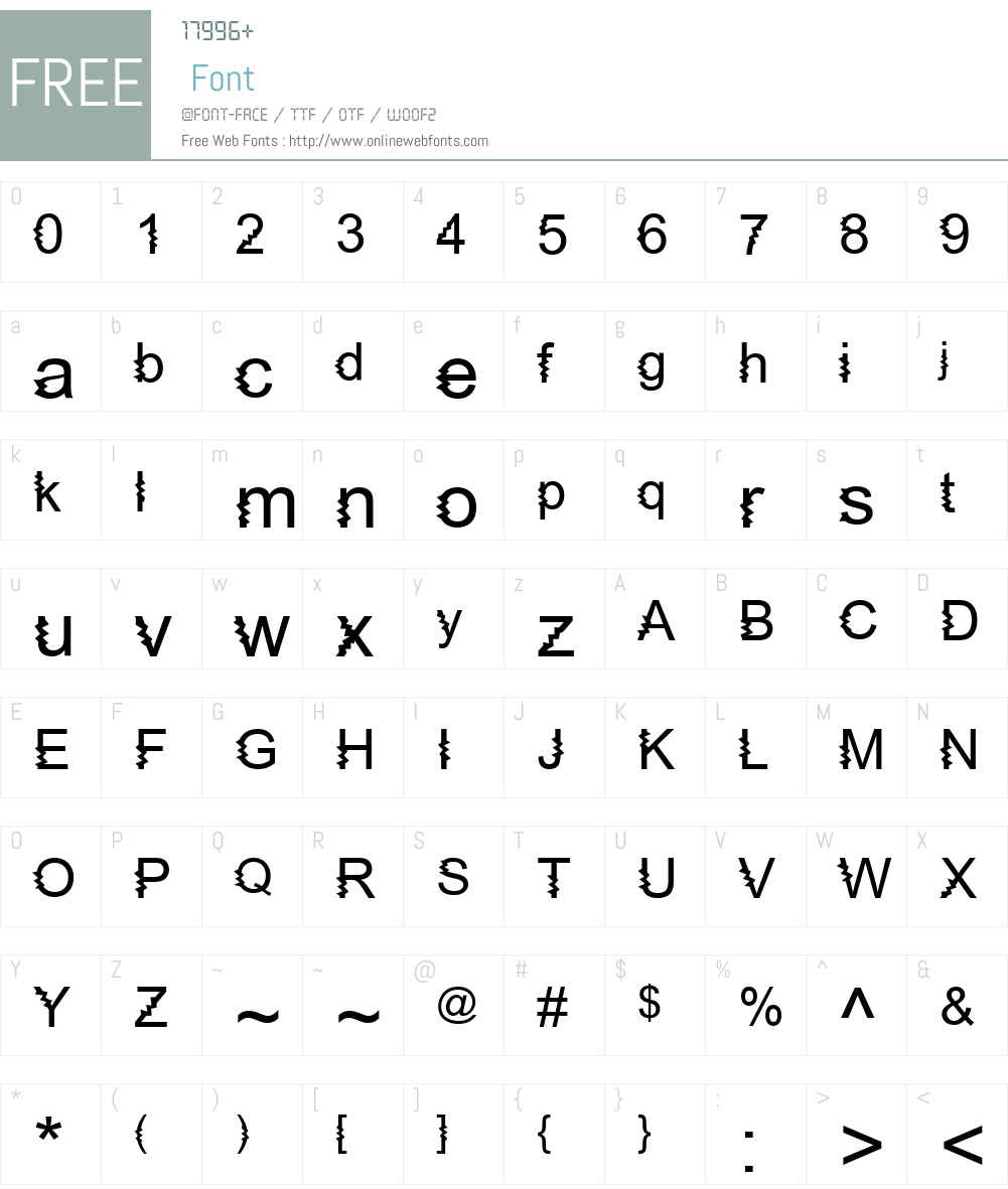 Zing Diddly Doo Zapped Font Screenshots