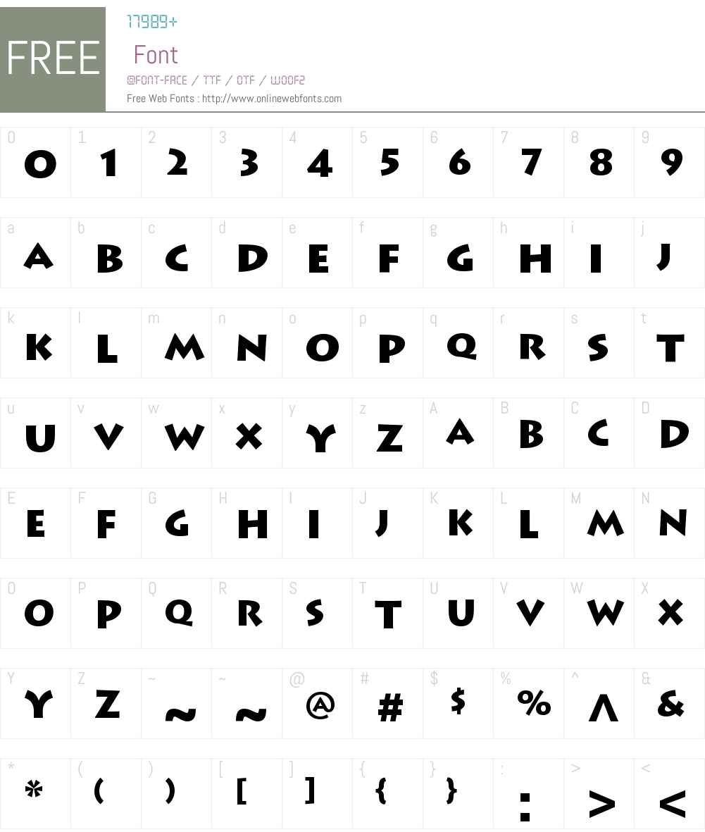 Lithos Pro Regular Font Screenshots