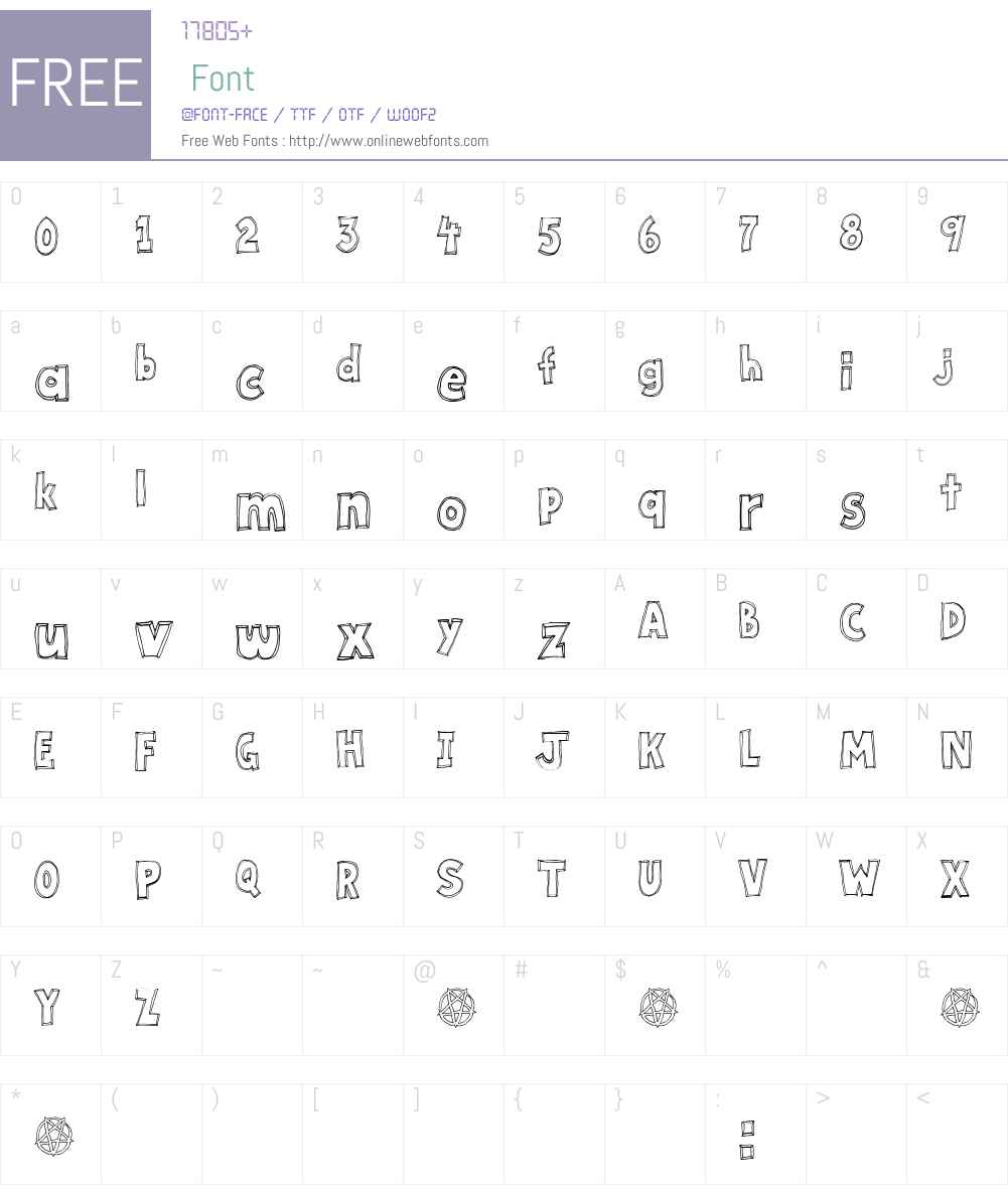 Key Tab Metal Font Screenshots