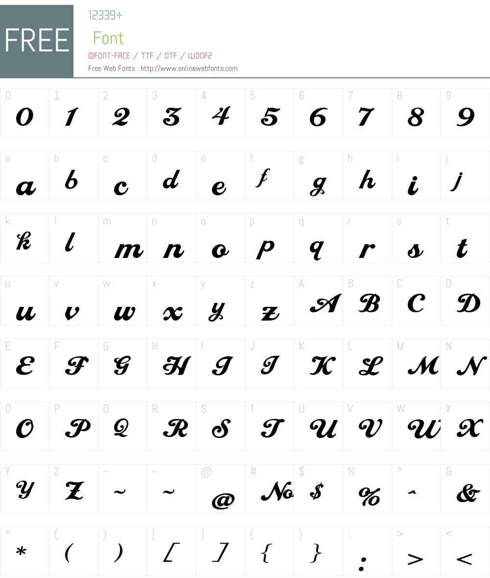 LHF Royal Script Extended Font Screenshots