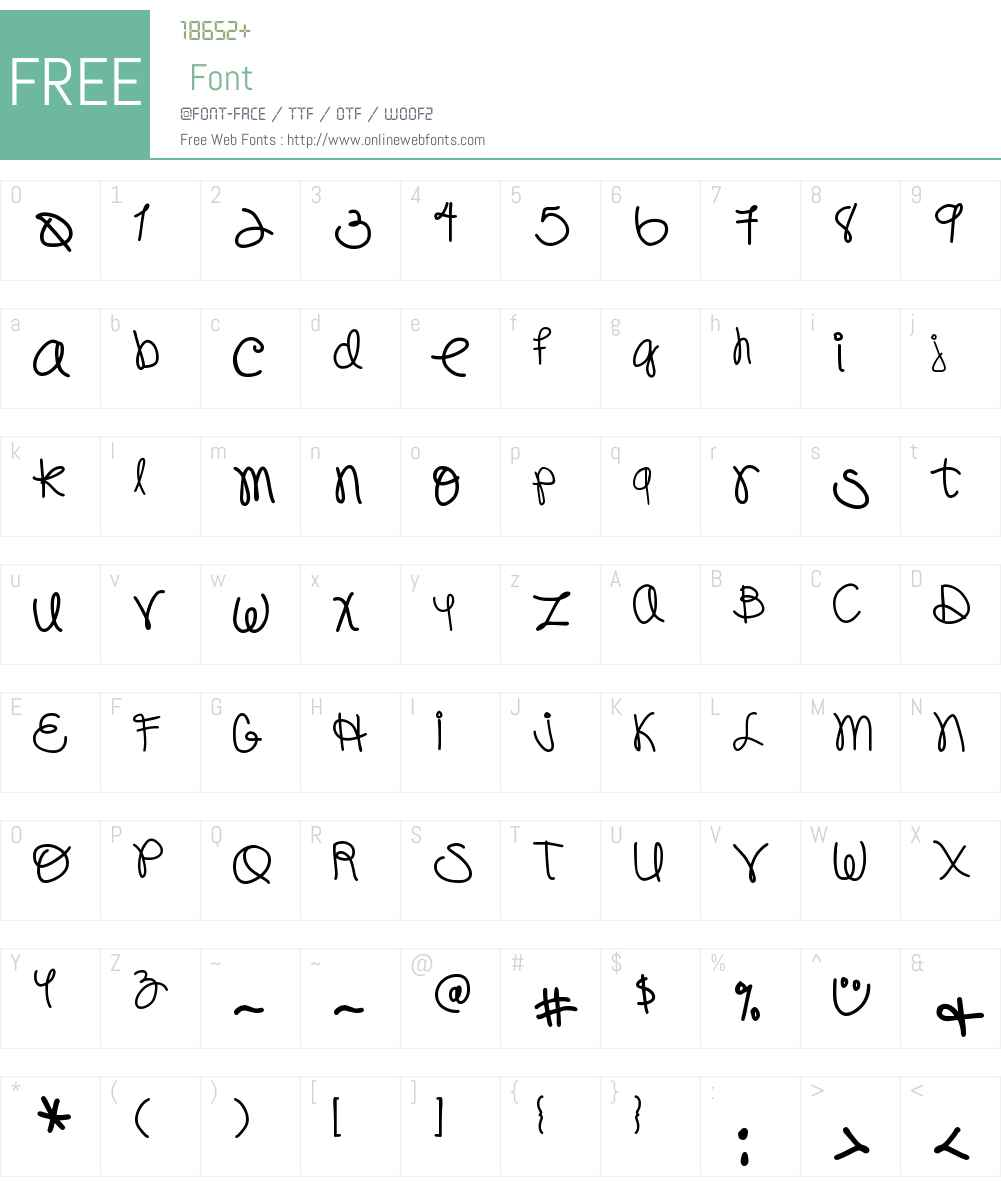 DJB Pookie Doo Font Screenshots