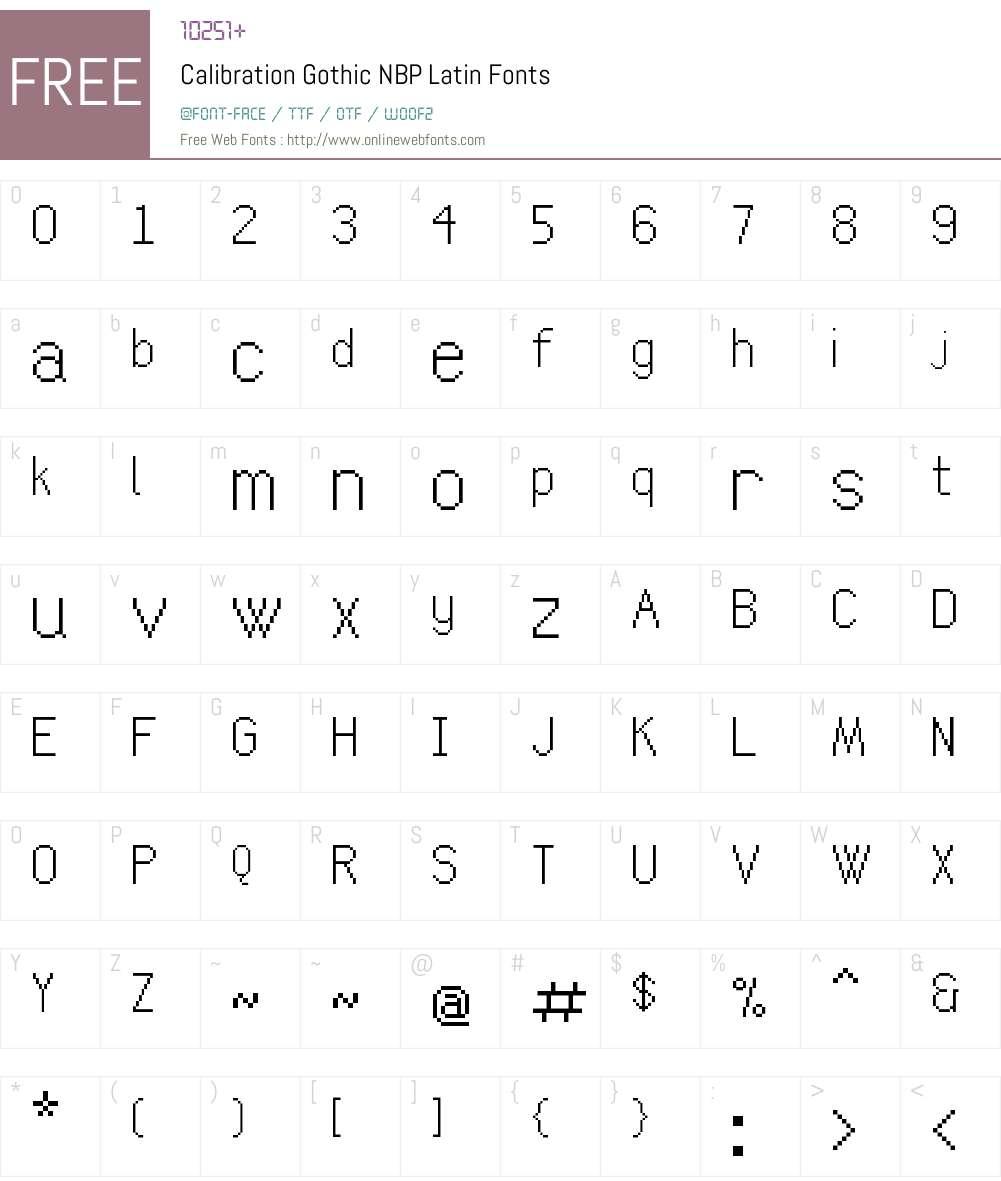 Calibration Gothic NBP Latin Font Screenshots