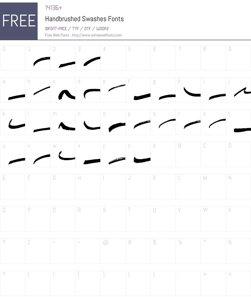 Handbrushed Swashes Font Screenshots