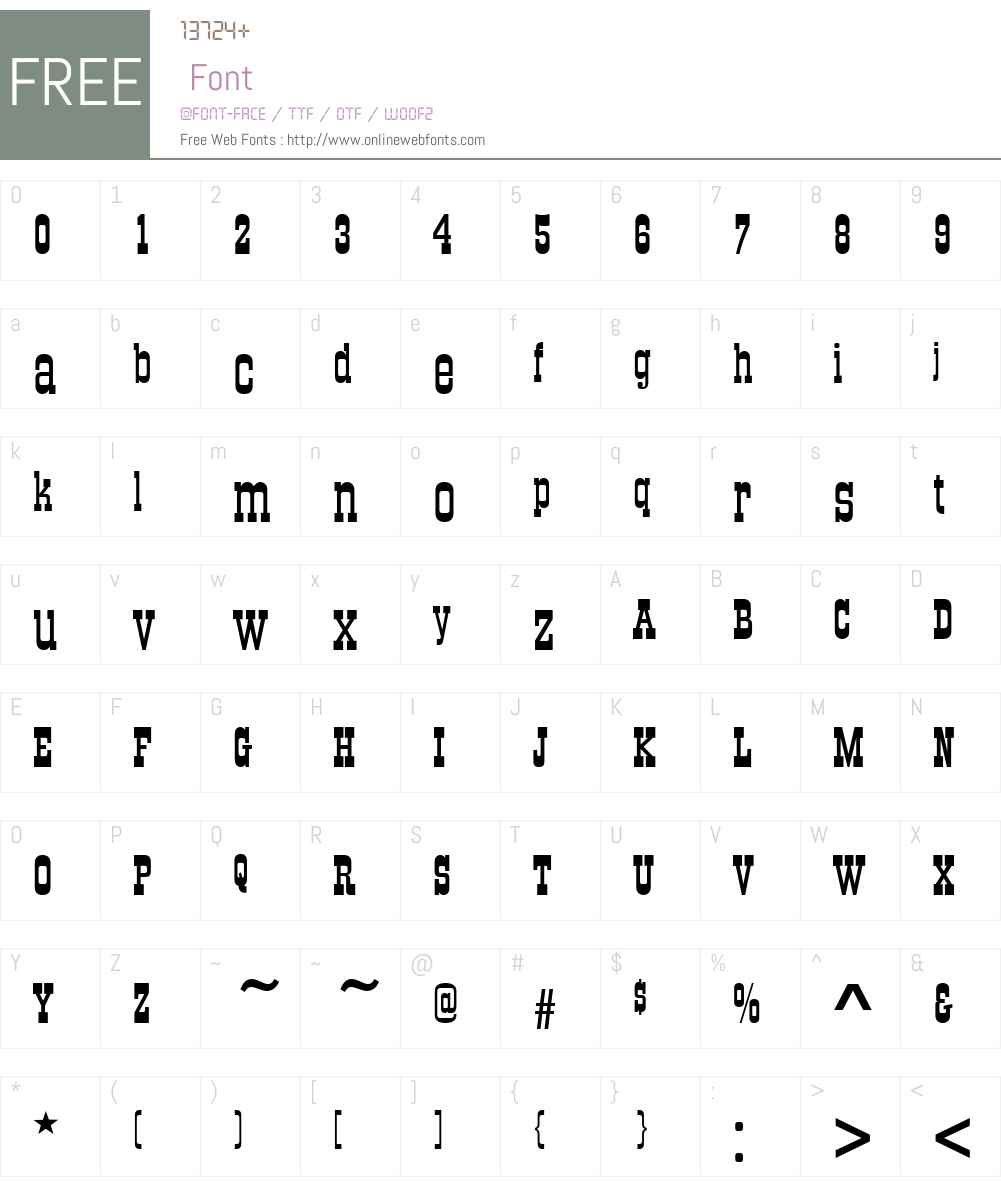 OldTowneNo536W01 Font Screenshots