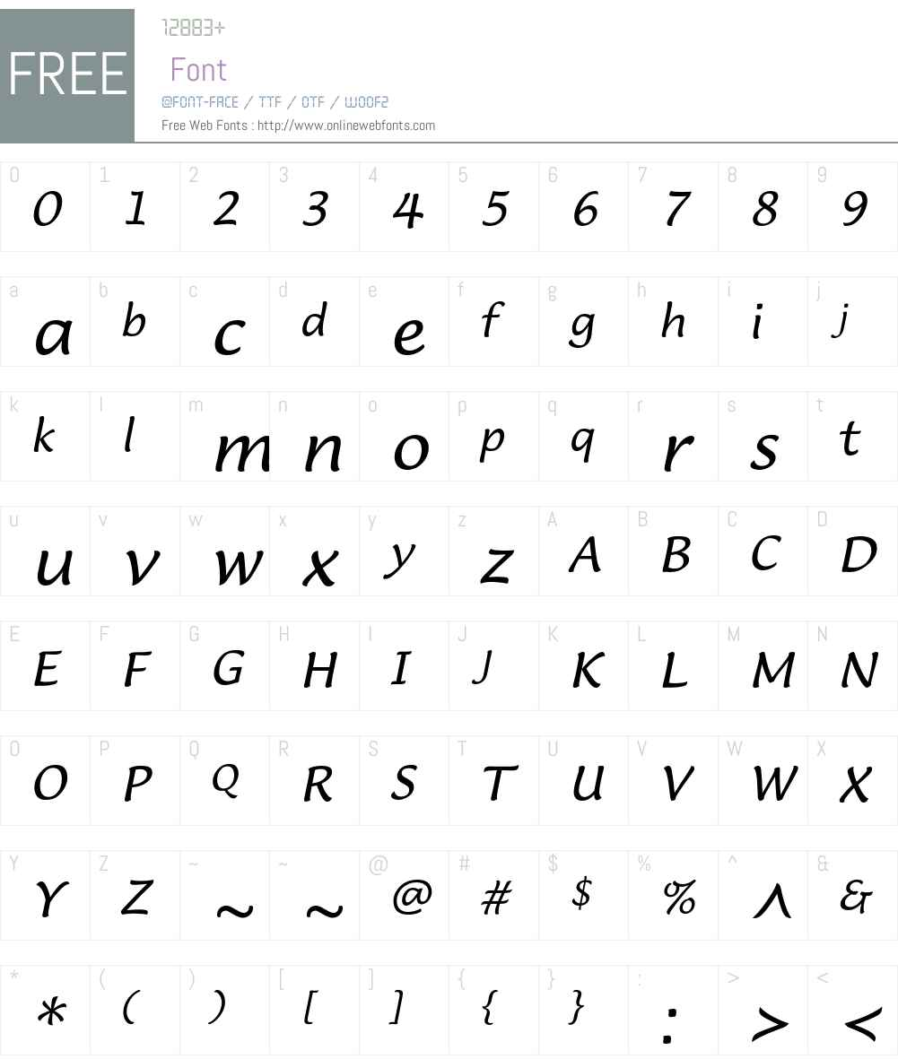 LucidaCasualEF Font Screenshots