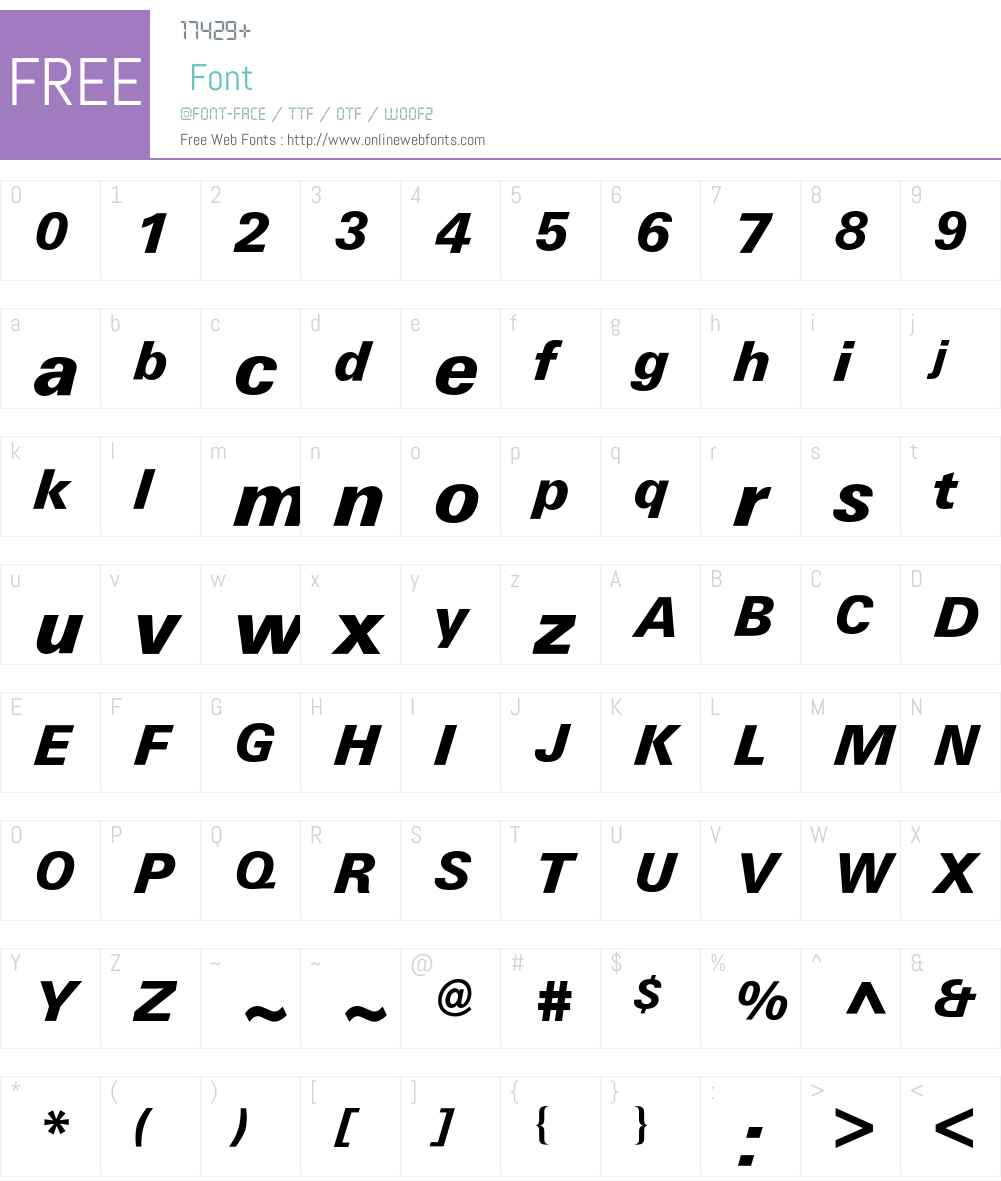 Univers BQ Font Screenshots
