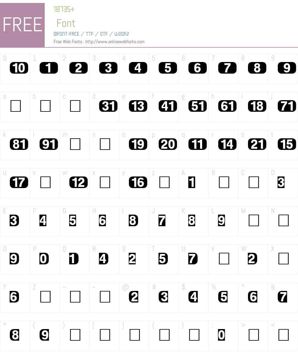 PIXymbolsTVW95-Blackitalic Font Screenshots
