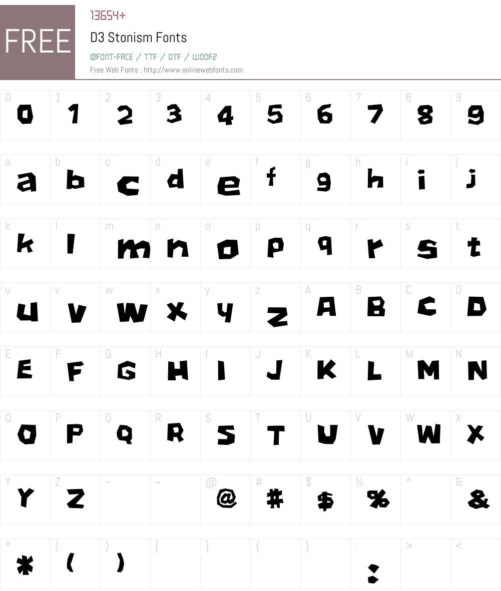 D3 Stonism Font Screenshots