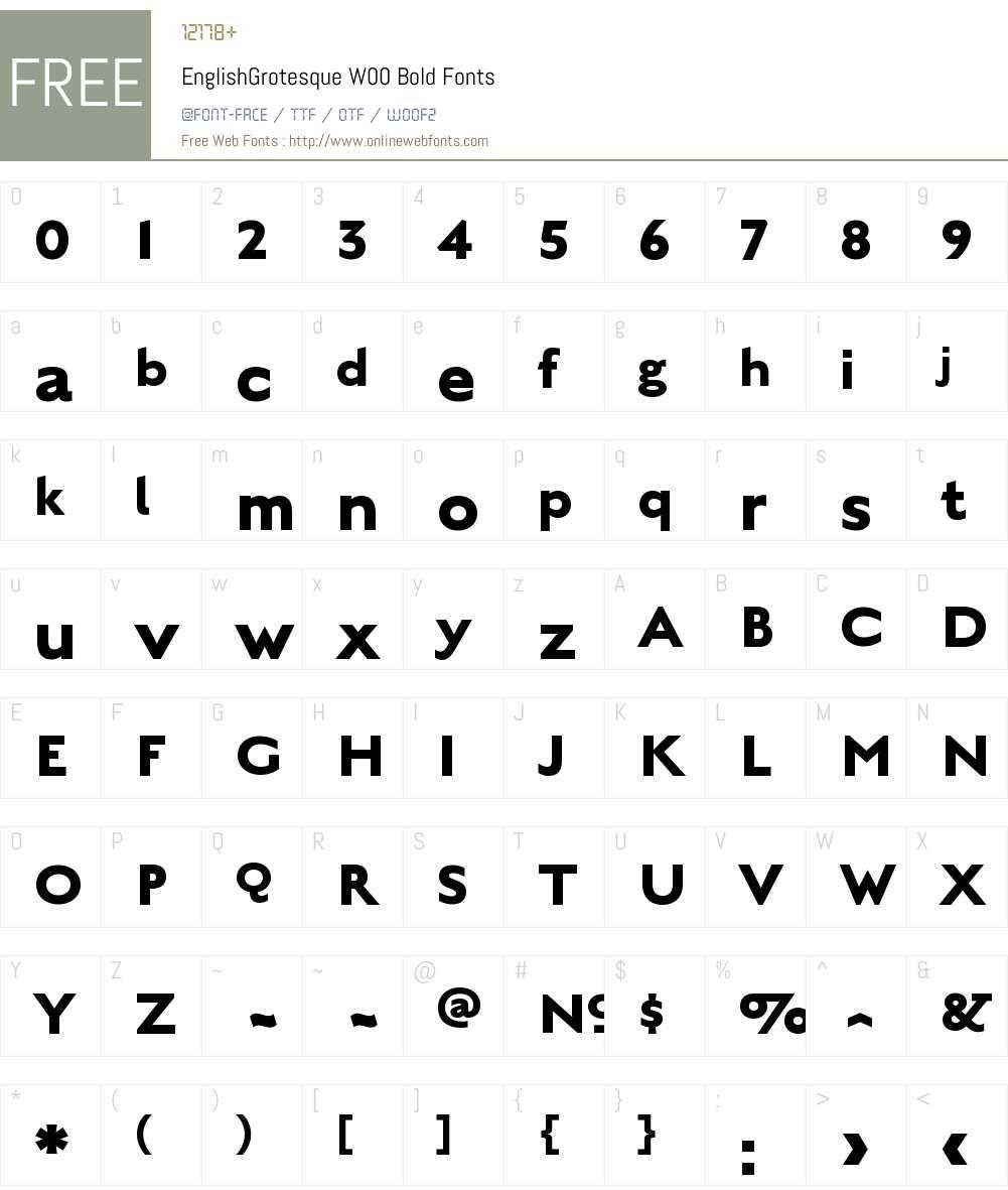 EnglishGrotesqueW00-Bold Font Screenshots