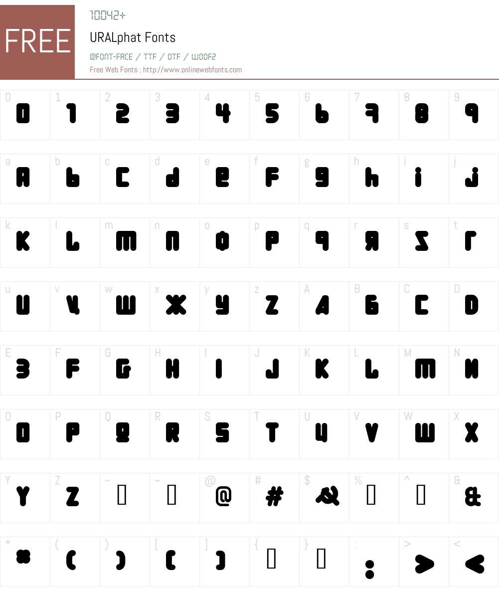 URALphat Font Screenshots