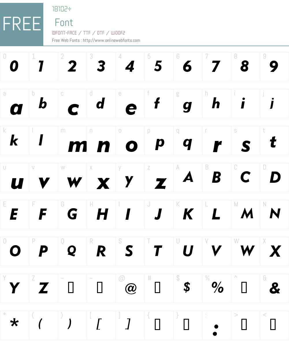 Metro Black Oblique Font Screenshots