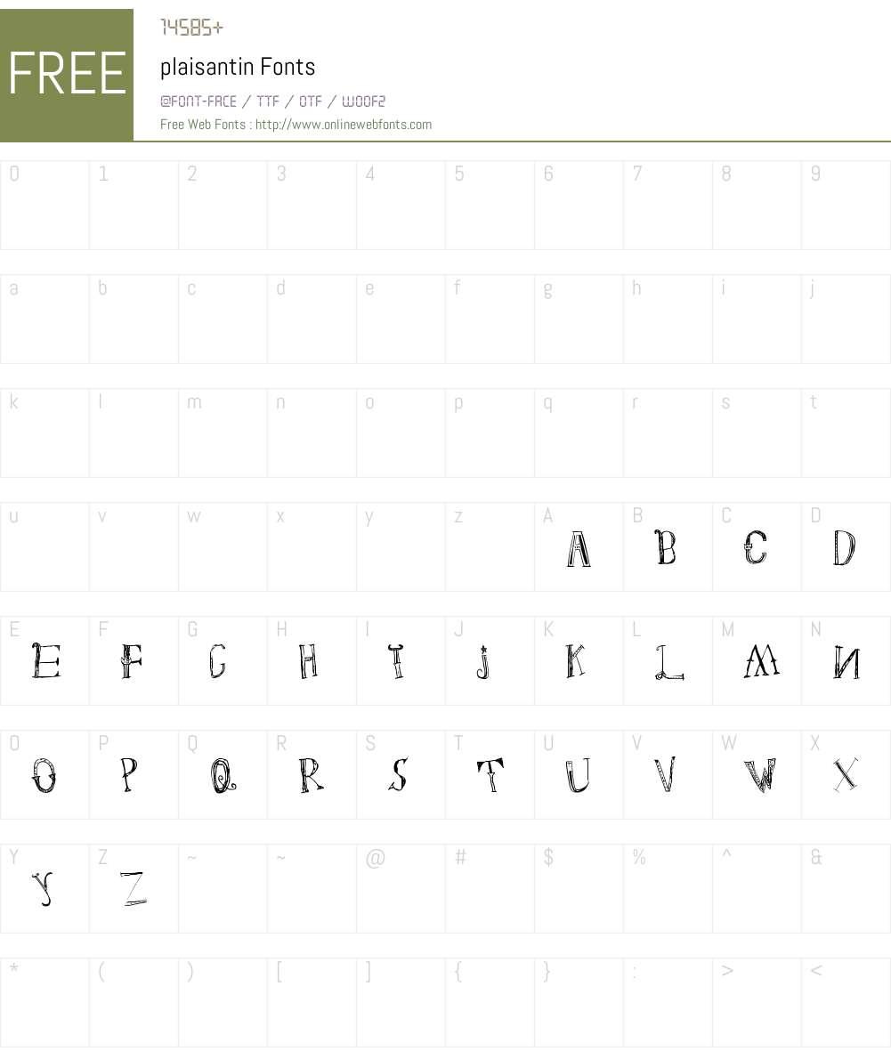 plaisantin Font Screenshots