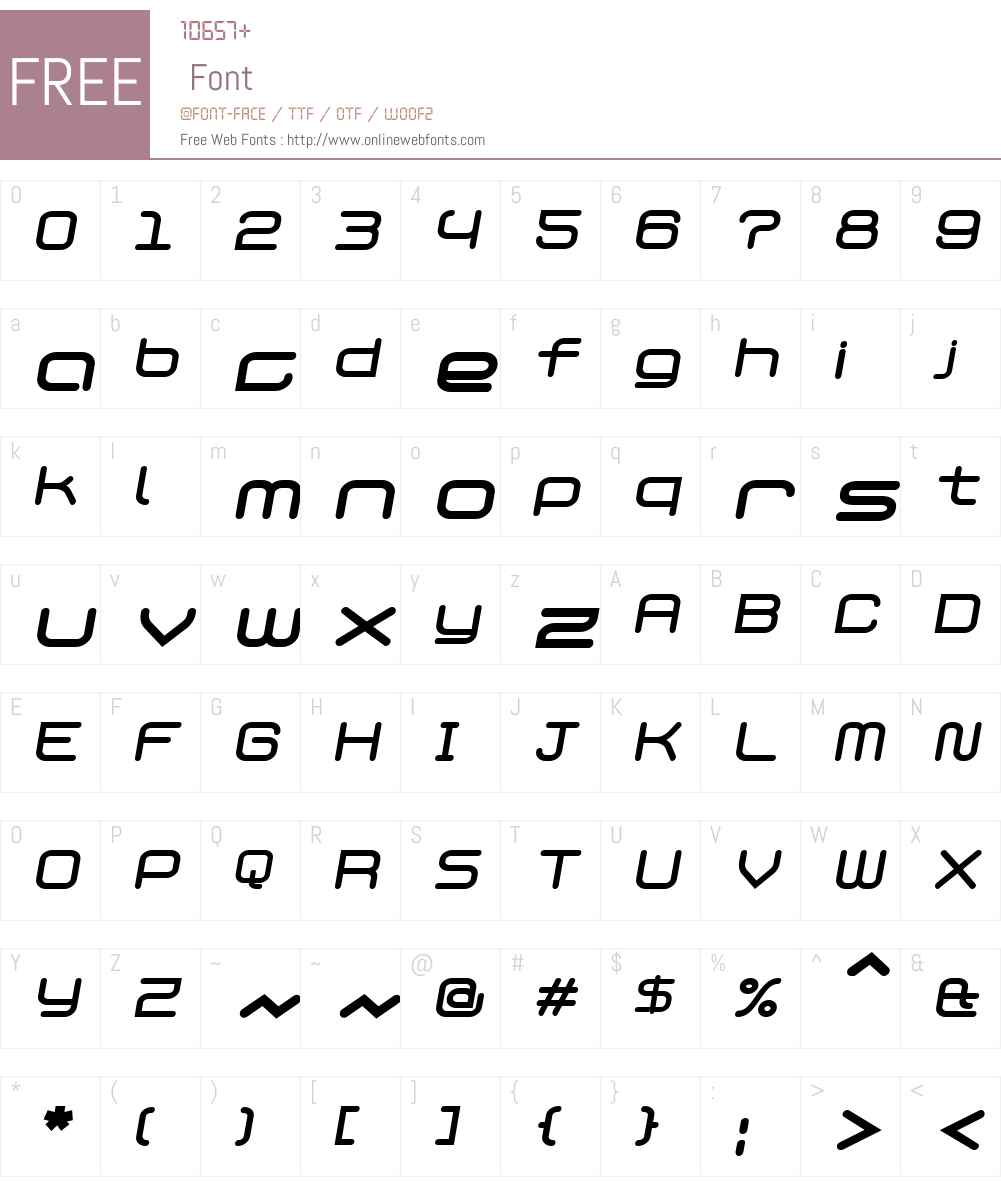 PhantomBold Italic Font Screenshots