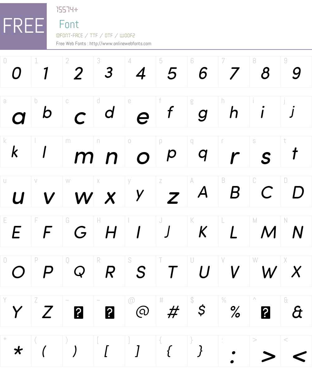 SofiaProSoftW01-RegularIt Font Screenshots